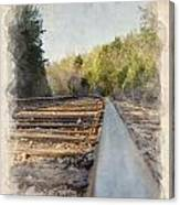 Riding The Rail II Canvas Print