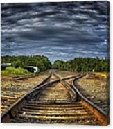Riding The Tracks Canvas Print