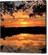 Rifle Rive State Park Sunset Canvas Print