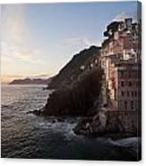 Riomaggio Sunset Canvas Print