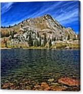 Ripply Waters Of Lake Cathrine Canvas Print