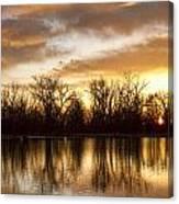 Rising Sun At Crane Hollow Canvas Print