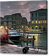 Riva Del Vin. Venezia Canvas Print
