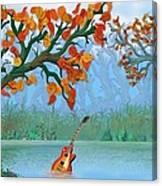 River Guitar Canvas Print