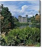 River In Front Of A Castle, Johnstown Canvas Print