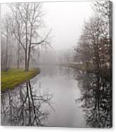 River In The Fog Canvas Print