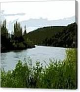 River Landscape Scene Canvas Print