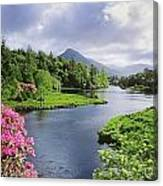 River Leading To A Mountain Canvas Print