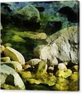 River Rocks 3 Canvas Print