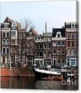 River Scenes From Amsterdam Canvas Print