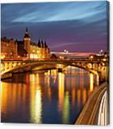 River Seine And The Concierge Canvas Print
