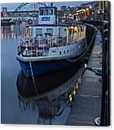 River Tyne Cruise Ship Canvas Print