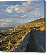 Road Along The Burren Coastline Region Canvas Print