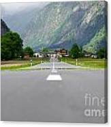 Road And Mountain Canvas Print