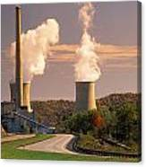 Road And Nuclear Plant.  Kentucky Canvas Print