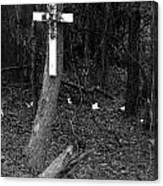 Road Death Cross- La Hwy 15- Louisiana Canvas Print