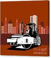 Road Roller  Retro  Canvas Print