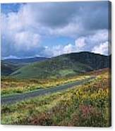 Road Through A Mountain Range, County Canvas Print