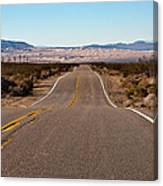 Road To Kelso Dunes Canvas Print