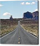 Road To Monument Valley Canvas Print