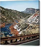 Road To Taos Village 1 Canvas Print