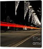Road With Lights Canvas Print