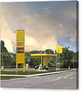 Roadside Gas Station Canvas Print