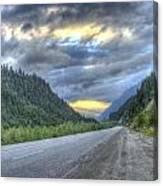 Roadside Sunset Canvas Print