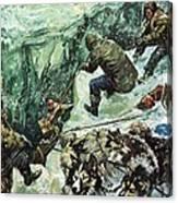 Roald Amundsen's Journey To The South Pole Canvas Print