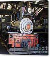 Roaring Camp West Side Shay Canvas Print