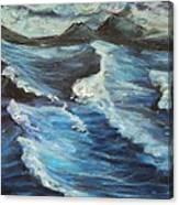 Roaring Sea Canvas Print