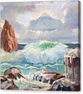 Roaring Waves Canvas Print