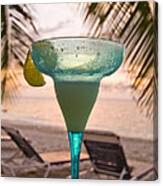 Roatans West Bay, Tropical Drink Canvas Print