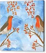 Robin Singing Competition Canvas Print