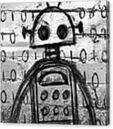 Robot Graffiti 2 Of 6 Canvas Print
