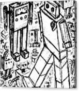 Robot Sketch 6 Of 6 Canvas Print