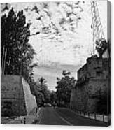 roccas bastion and paphos gate and restricted area of the UN buffer zone in the green line Canvas Print