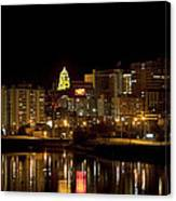 Rochester By Night Canvas Print