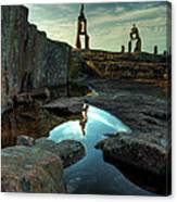 Rock Balancing Grand Marais Canvas Print