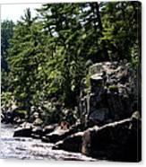 Rock Bluffs On The St Croix Canvas Print