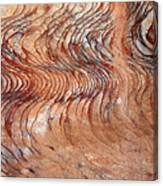 Rock Formation At Petra Jordan Canvas Print