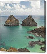 Rock Formation In Fernando De Noronha Canvas Print