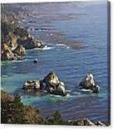 Rock Formations Along The Coast Big Sur Canvas Print