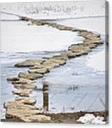 Rock Lake Crossing Canvas Print