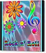 Rock Music Poster Canvas Print