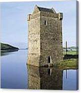 Rockfleet Castle On Clew Bay, County Canvas Print