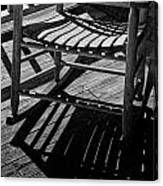 Rocking Chair Lit By The Afternoon Sun Canvas Print
