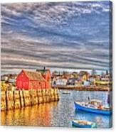 Rockport Water Color - Greeting Card Canvas Print