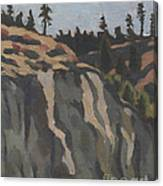 rocks along the Sanpoil river Canvas Print