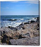 Rocks And The Ocean Canvas Print